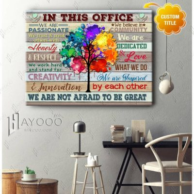 Custom Office Wall Art With Colorful Tree