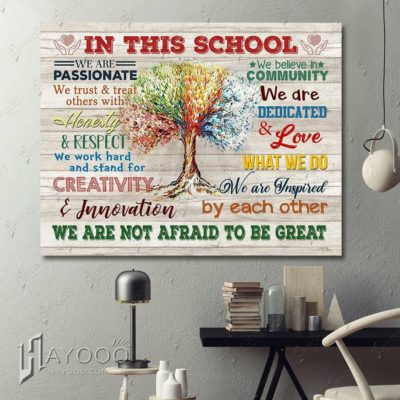 School Canvas Wall Art Decor