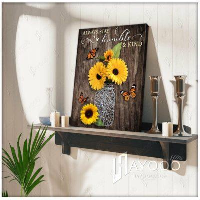 sunflower butterfly canvas