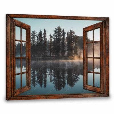 faux window canvas