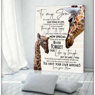 Giraffe Family Canvas