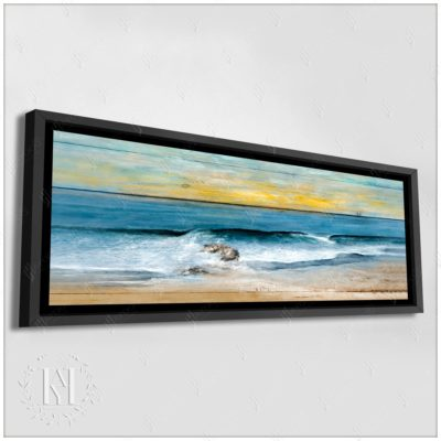 Large Morning Beach Painting Canvas