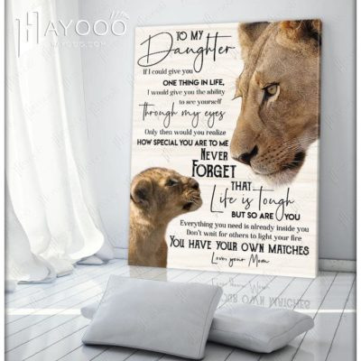 Lion wall art for daughter