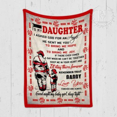 Firefighter Daughter Blanket
