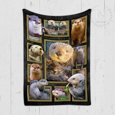 Cute Otters Blanket