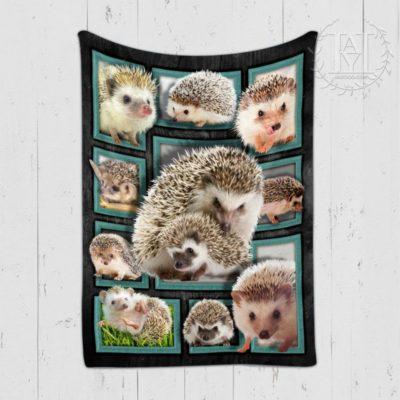 Cute Hedgehogs Blanket