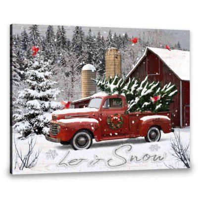 white christmas canvas