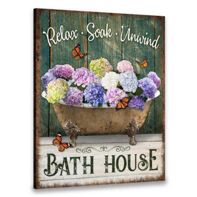 rustic farmhouse bathroom art