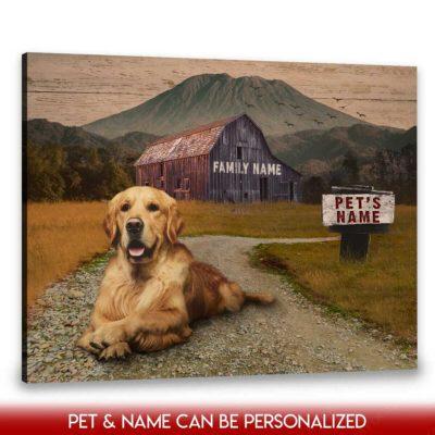 personalized pet canvas